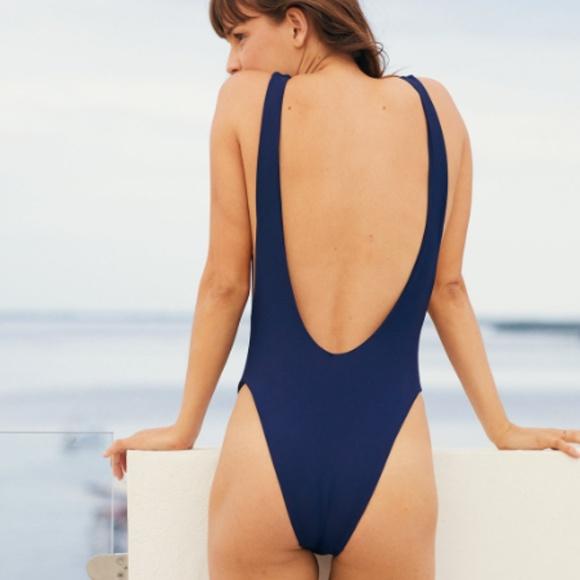 4247812de1824 aerie Swim | Super Scoop One Piece Bathing Suit In Navy | Poshmark